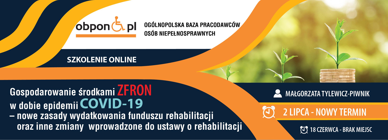 Gospodarowanie środkami ZFRON w dobie epidemii COVID-19 – nowe zasady wydatkowania funduszu rehabilitacji oraz inne zmiany wprowadzone do ustawy o rehabilitacji